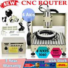 4axis Cnc 3040z Router Engraver Machine Ball Screw Milling Drilling Wood 3d Ce