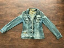 new MISS SIXTY women's BASIC DENIM JACKET sz M Blue Jeans Made in Italy Coat
