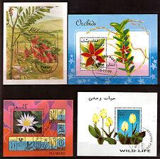 Poste AFGHANES 4 blocs:Les fleurs des champs et de culture , A390