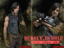 1/6 DARYL DIXON Head Figure Crossbow Full Set For The Walking Dead in stock
