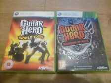 Guitar Hero: Warriors of Rock & WORLD TOUR Microsoft Xbox 360 GameS FREE P&P