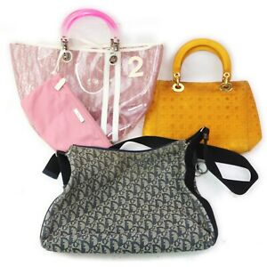 Christian Dior Canvas Vinyl Shoulder Bag Hand Bag  3 pieces set 519332
