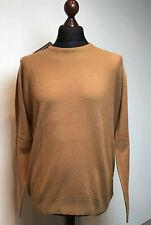Mens - John Smedley - 1Singular - Textured Jumper - Camel - Merino Wool XL