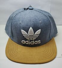 ADIDAS CAP HAT MEN'S ADJUSTABLE FIT,ONE SIZE NAVY CHAMBRAY