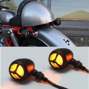 2PCS Motorcycle Turn Signal Indicator Light For Harley Chopper Bobber CAFE RACER