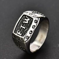 Mens Biker Jewellery Stainless Steel Gothic Punk FTW Middle Finger Rings 8-13