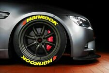 Hankook Yellow Tire Lettering stickers  1,25  15'16'17'18'19'20  8 KIT