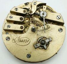 Rare High Grade key wind pocket watch movement for repair 45mm