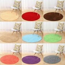 Round Chenille Bathroom Carpet Bedroom Floor Mat Rug Anti-slip Doormat Rug