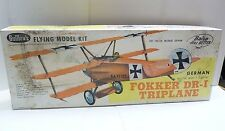 GUILLOWS FLYING BALSA WOOD MODEL KIT #204 FOKKER DR-I TRIPLANE B1