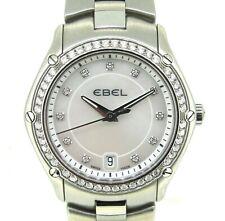 Ebel Classic Sport Mother Of Perl Dial Diamonds Quartz Women`s Watch 27 MM