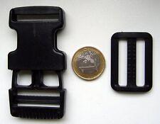 5 x Klickverschluß Steckschließer mit Schieber 30mm