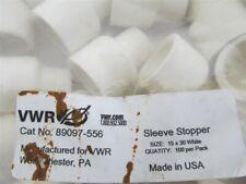 VWR, 89097-556, 15x30 Rubber Sleeve Stopper,White,(Bag 100)