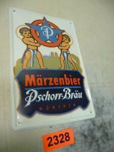 """2328. Blechschilde Reklameschild Reklame Schild """"Märzenbier PSchorr Bräu"""""""