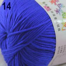 Sale New 1Ball x 50g Cashmere Silk Wool Hand Knit Wrap Shawls Crochet Yarn 14