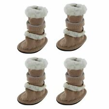 4x Dogs Puppy Doggie Warm Shoes For Winter Cold Mud Snow Rain Walking Boots