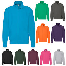 FRUIT OF THE LOOM MENS LIGHTWEIGHT FULL ZIP SWEAT JACKET SWEATSHIRT SS127