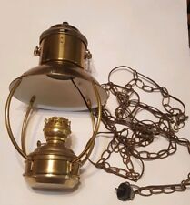 Antique Large Kosmos Brenner Nautical electric Lamp Brass Hanging Lantern