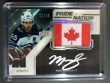 2019-20 UD Black Pride of a Nation Mark Scheifele Auto /99