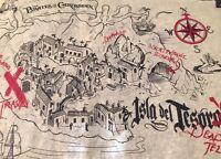 Disney Parks Pirates of the Caribbean Ride Souvenir Treasure Map Isla del Tesoro