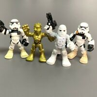 Lot 4PCS Playskool Star Wars Galactic Heroes Sand Trooper Hoth Snowtrooper Toy