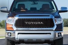 Custom TOYOTA Grille for 14-16 Tundra Aftermarket Steel Grill Black SS Underlay