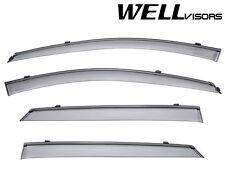For 07-12 KIA Rondo WellVisors Side Window Visors W/ Black Trim