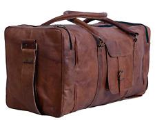 True grit-cuir vintage marron homme en cuir de voyage duffel sac de voyage luggag