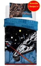Star Wars Coton Mélange Simple Housse Couette Set Garçons Enfant Fans Bleu Lit