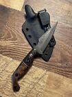 Half Face Blades Gulo Gulo Wood/CF/Copper handle w/ Stonewashed/Rock Work Blade