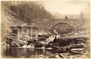 France or England River and falls Large albumen Belles photo albuminé vers 1870