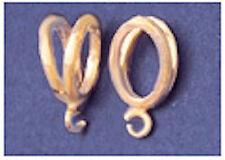 14kt Yellow Gold Fancy Omega Slider Bail For 6mm Chain
