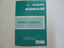 1988 SUZUKI SAMURAI Factory Owners Manual OEM FACTORY BOOK SAMURAI OEM BOOKLET x