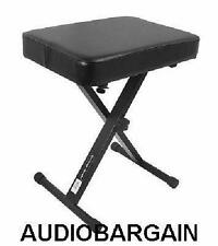 On-Stage Thick Padded Keyboard Bench Free Ship