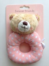 Forever Friends First Rattle Baby Girl Newborn Gift