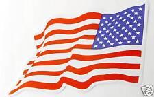AUFKLEBER Sticker FLAGGE Flag USA Amerika wedelnd links