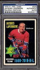 1970 71 OPC #245 JACQUES LAPERRIERE PSA DNA CERTIFIED AUTOGRAPH AUTO CANADIENS