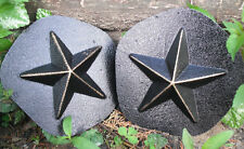 "2 plastic star molds plaster cement resin mould reusable each 4"" x 1"" thick"