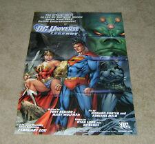 DC Universe Online Legends 2011 DC Comics Promotional Poster Un-circulated