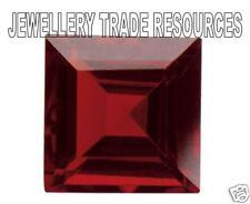 Natural Rich Red Garnet Square Cut 4mm X 4mm Gem GEMSTONE