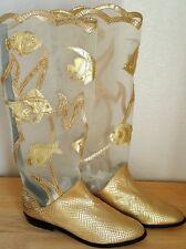 RARE Vintage ZALO Under the Sea Boots Women's Size 7.5