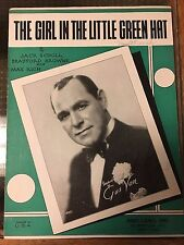 1933 THE GIRL IN THE LITTLE GREEN HAT GUS VAN RARE Jack Scholl Bradford Browne