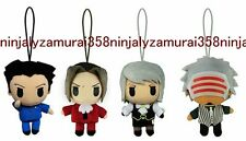 Ace Attorney mini strap plush figure set of 4 Gyakuten Saiban Phoenix Wright