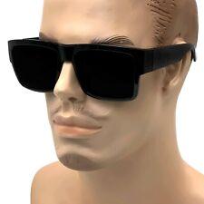 Large Square CHOLO Sunglasses Super Dark OG LOCS Style GANGSTER Style Black Kim