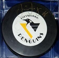 Jaromir Jagr hand Signed Hockey Puck NHL Autographed vintage trench penguins