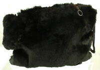 ANTIQUE VICTORIAN SOFTEST FUR MUFF PURSE HAND WARMER Mourning Style XMAS
