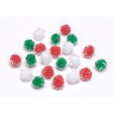 110 - 10Mm Pom Poms Multi Iridescent B58