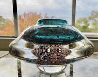 American Studio Hand Blown Mark Sudduth Art Cased Glass Vase Signed 2.5Lb