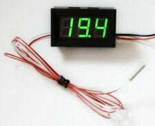 LED Thermometer -30°+400°C klein hell 12V/24V Temperaturanzeige Einbau PT-100