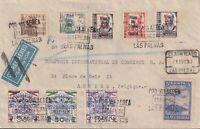 España 1937. Canarias. Carta de Las Palmas a Anvers. Censura.